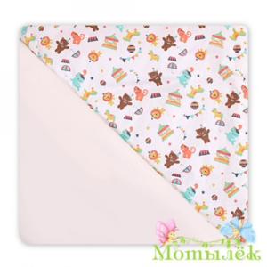 Детское одеяло плед двухсторонний мишки