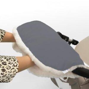 Муфта для рук на коляску Esspero Soft Fur Grey