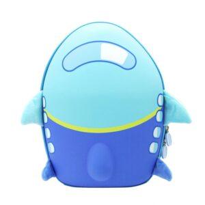 Детский рюкзак Anilove Самолет голубой
